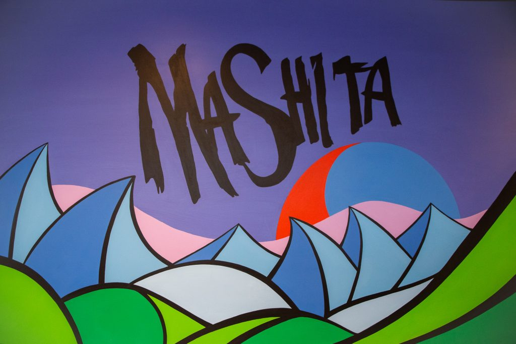 Mashita Mural on Restaurant Wall